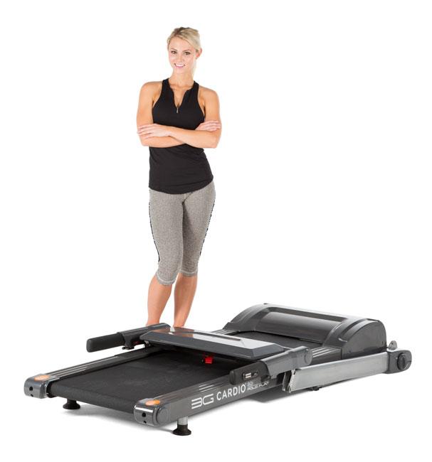 3G Cardio 80i Fold Flat Treadmill At Home Fitness