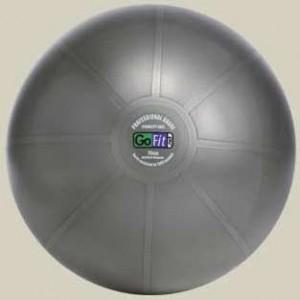 GoFit Professional Grade Burst Resistant Ball - 75CM Dark Gray