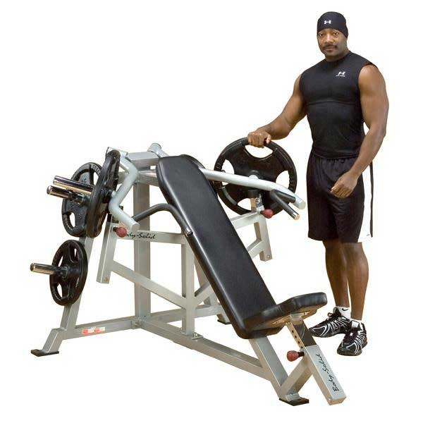 Body Solid Leverage Incline Bench Press At Home Fitness