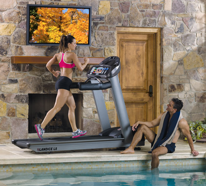 Landice L7 Treadmill Dimensions: Landice L8 Cardio Trainer Treadmill