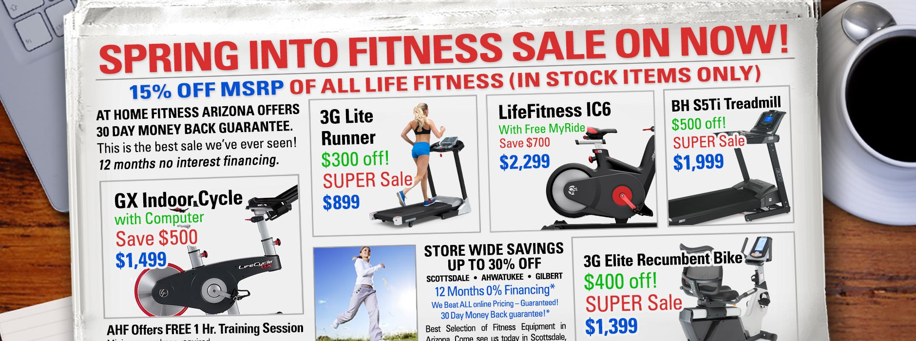 2018 Spring into Fitness Sale At Home Fitness